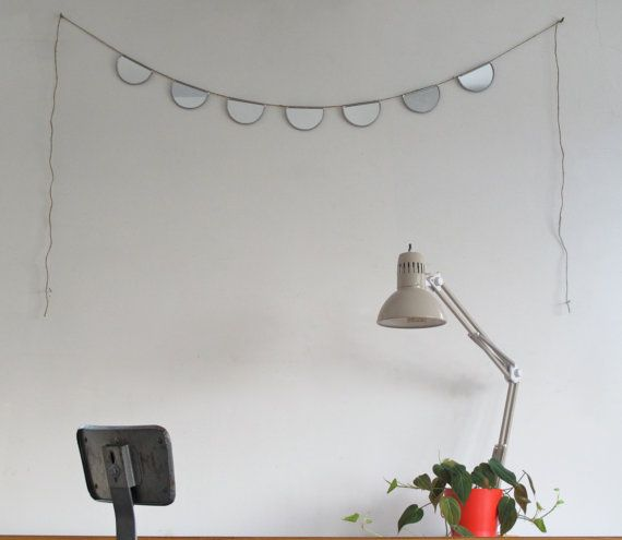 Mirror Bunting Small Half Circle Banner Garland by fluxglass, $55.00