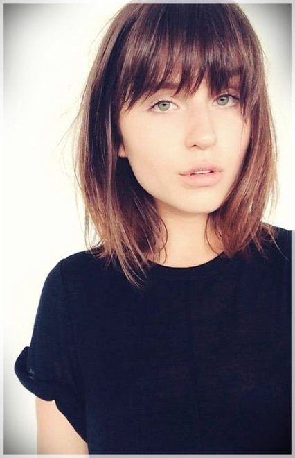 Haircut with bangs for round faces long hairstyles hair style 66+ Trendy Ideas