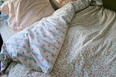 PERFECT! PUT TWO SHEETS TOGETHER TO MAKE COMFORTER! I have a queen-sized bed so I need to purchase 2 king-sized sheets. Any excess can be used for pillows etc.