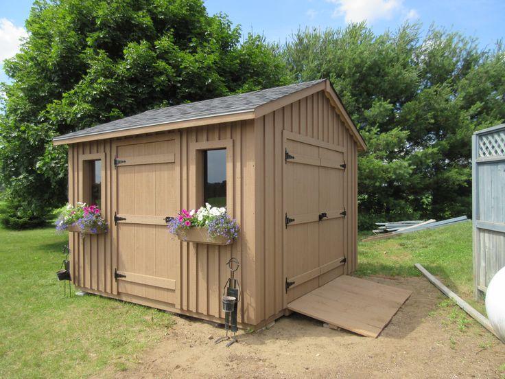 10 images about storage cottage sheds on pinterest for Side storage shed