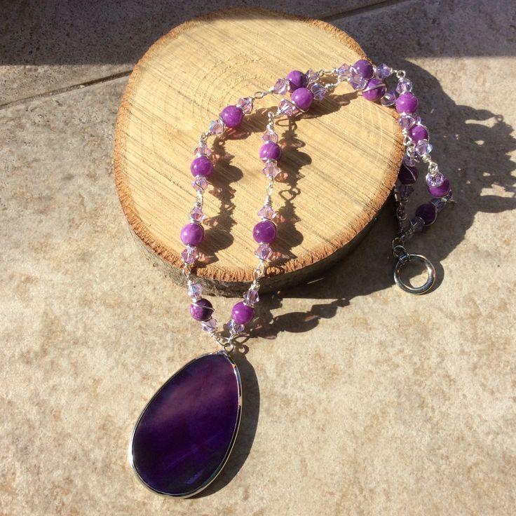 Swarovski Crystal wire wrapped necklace
