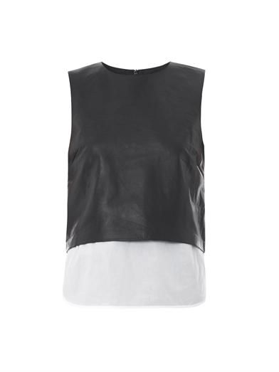 Hodall leather top | Theory | MATCHESFASHION.COM