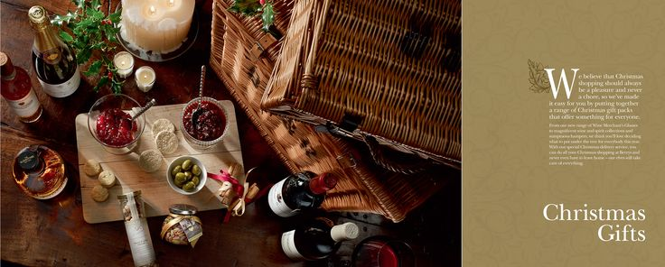 Berry Brothers & Rudd Christmas Gifts Catalogue design and Art Direction. Fine Wines and Spirits Photography.