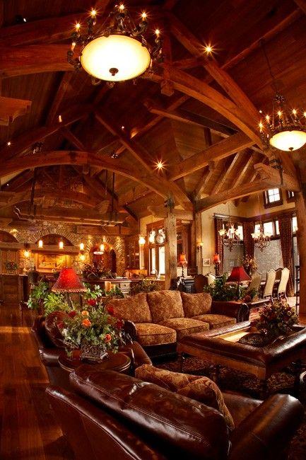 elegant lodge style home