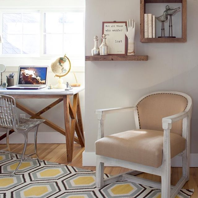download middot italian design office. This Dreamy Home Office By @ashleycampbellinteriordesign Got A Style Boost From Our Geometric Fallon Rug Download Middot Italian Design