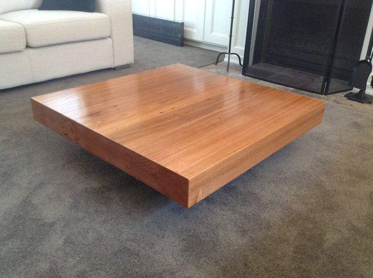 Recycled hardwood timber floating coffee table