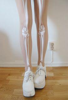Pantimedias con huesos