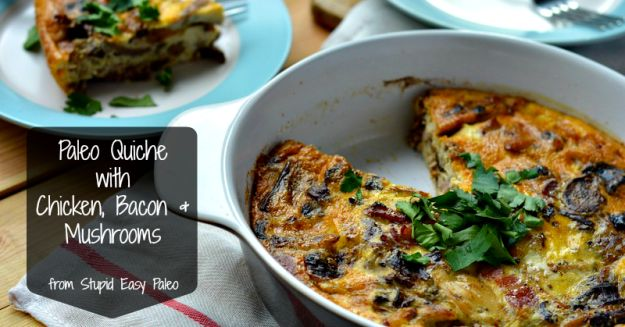Paleo Chicken Bacon Mushroom Quiche | stupideasypaleo.com Thinking of replacing the coconut milk with broth. Wonder if that would work?