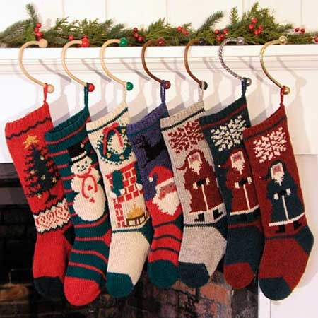 wooden stocking hooks: christmas cove designs