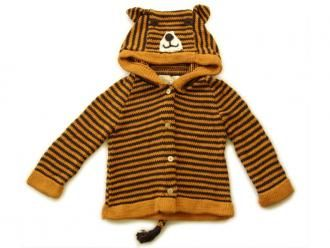 Tiger Play Sweater: organic cotton knit handmade by mothers in Kenya