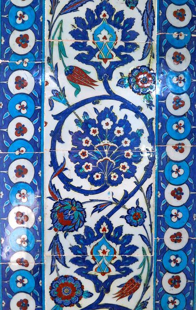 Flowers on tiles from the past. Rustem Pasha Mosque. Istanbul by 1CheekyChimp, via Flickr
