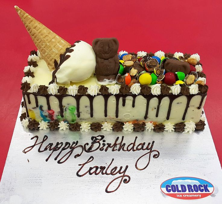 and the birthday #celebrations continue with #coldrock custom made ice cream cakes :-)