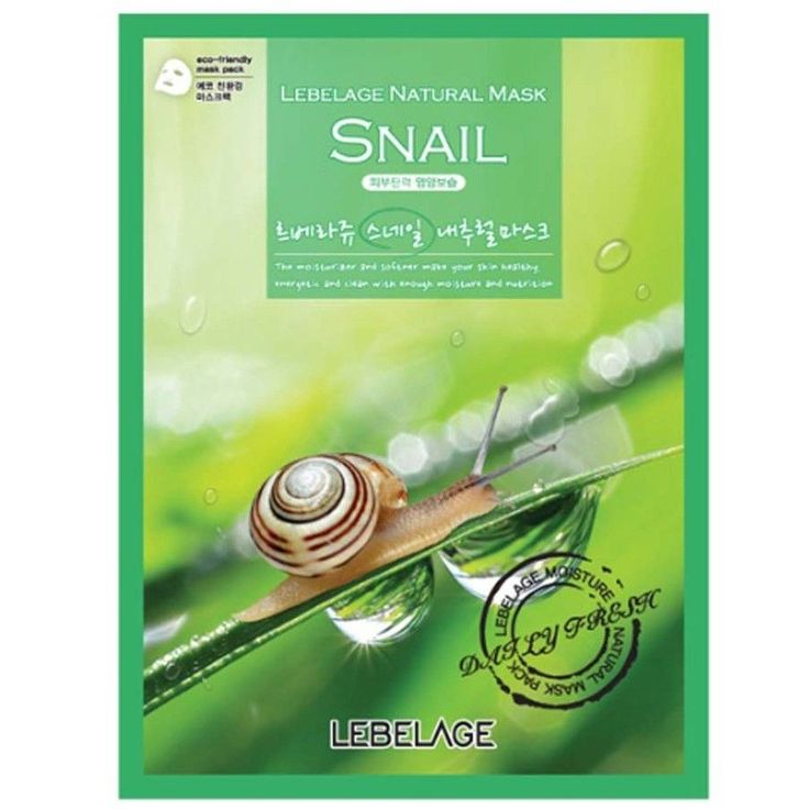 LEBELAGE Snail Natural Facial Essence mask sheet pack Skin care 3pcs #Lebelage