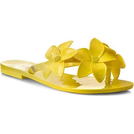 Japonki MELISSA - Melissa Harmonic Garden IV Ad 31712  Neon Yellow 01661 eobuwie-pl zolty bez zapięcia