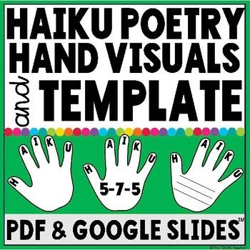 FREE download! Haiku poetry is my favorite to teach because it is different and challenging! I also think it is a great way to get students towork with syllables. I find that students get confused between haiku, cinquain and limerick poems. All 3 have odd names! A little trick I taught them to remember that a haiku poem has three lines and 17 syllables that follow a 5-7-5 syllable structure is to think of ahigh five. There are 5 letters in the word HAIKU just like five fingers on your…