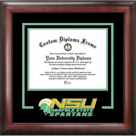 Campusimages VA992SG Norfolk State Spirit Graduate Diploma Frame