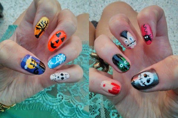 Shake & Paint: Halloween Nail Ideas 2014 #halloween #nailart #pumpkin #spider #vampire #frankenstein #jason #jackskellington #nightmarebeforechristmas