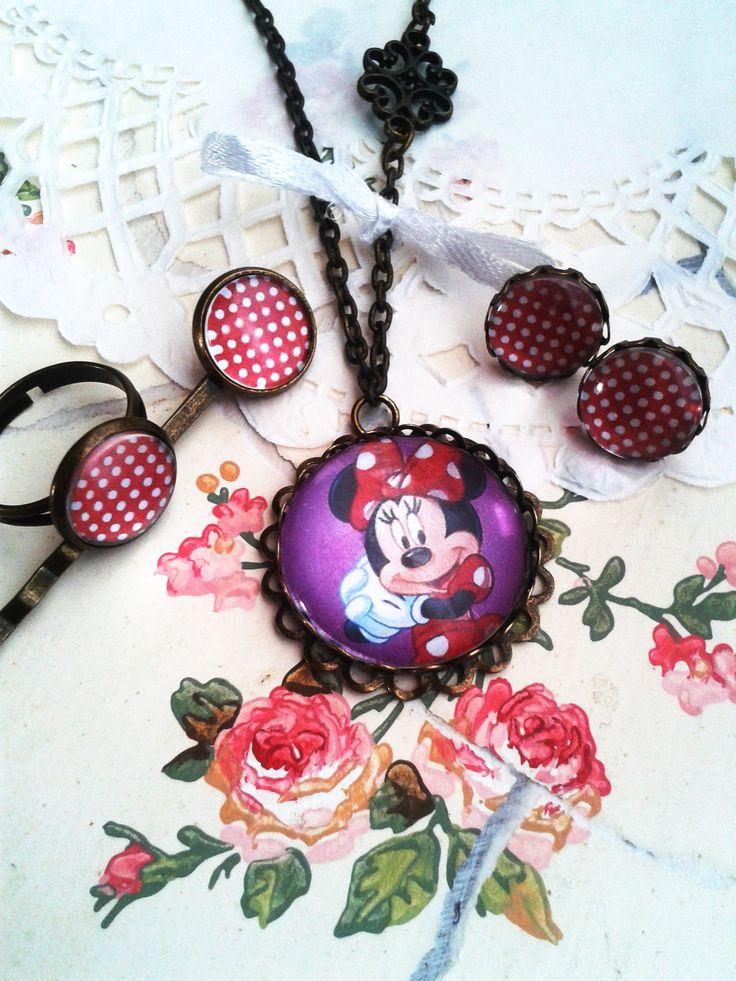Minnie szett kislány ékszer, mesés nyaklánc kis hercegnők örömére (vintage, jewerly, necklase, Disney Princess, Minnie)