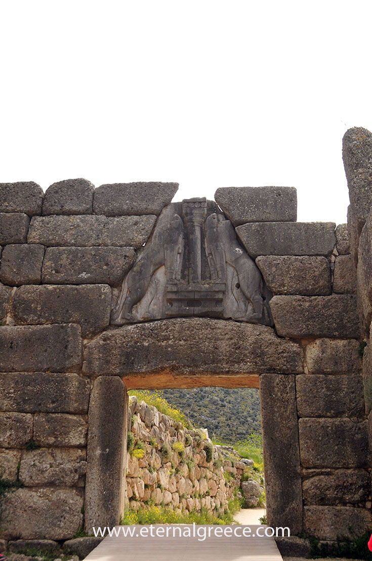 The Lions' Gate, Ancient Mycenae, Greece. Check us out before you book your next great vacation, you will love our ideas! Please visit us on www.eternalgreece.com for inspiration, information, itinerary suggestions and fabulous tour arrangements to #Greece. #travel #holidays #vacations #archaeology #mythology #tours #itineraries #holidays #culture #wine #food #mythology #tours #itineraries #roadtrip #architecture #photography #greecetravel