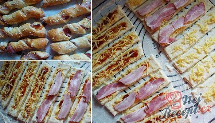 vynikající párty twister tyčinky se slaninou a sýrem