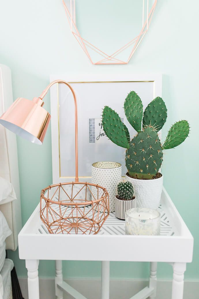 Night stand with lovely botanicals