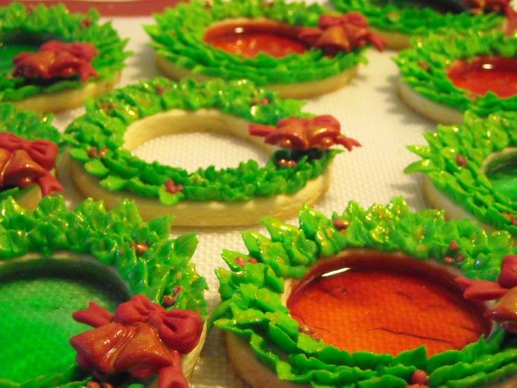Coronas de navidad galletas decoradas galleta navidad - Coronas de navidad ...