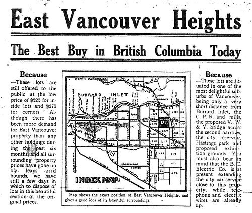 Vancouver Heights East Vancouver Property 1912 #Vancouver #Heights #East #Vancouver #Archive #Newspaper #Real #Estate #Historical #British #Columbia #BC #Canada #Heritage