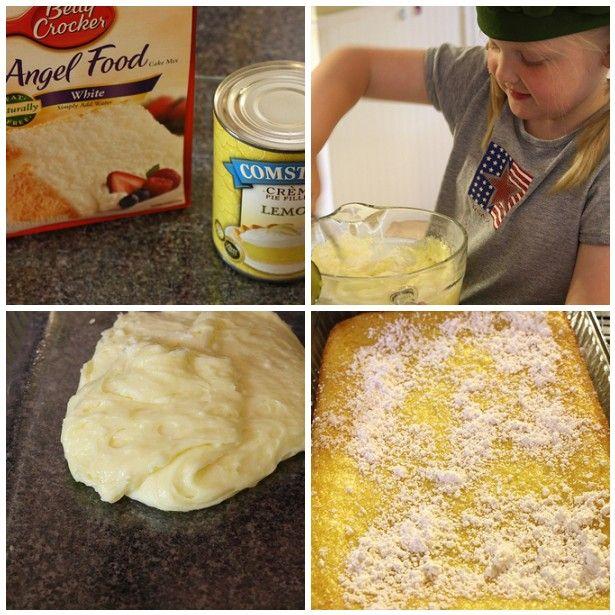 Lemon Bars steps Two Ingredient Lemon Bars Recipe