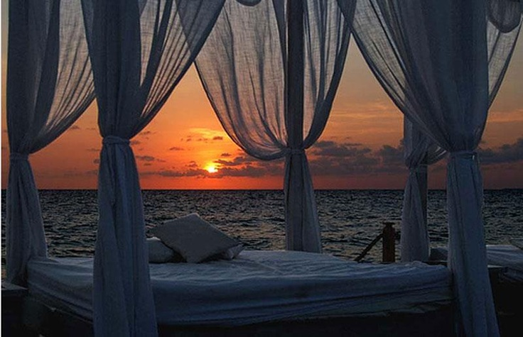 "Who would like to take a nap here?:).....Café del Mar(""Sea Cafe"") is a bar located in San Antonio, Ibiza"