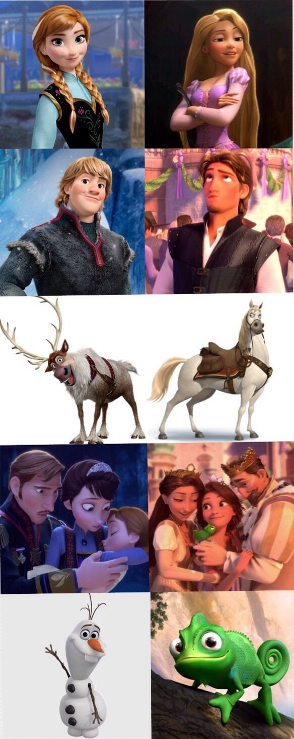 Frozen and Tangled.. One has the magic of ice and the other the magic of sun... Both are awesome...