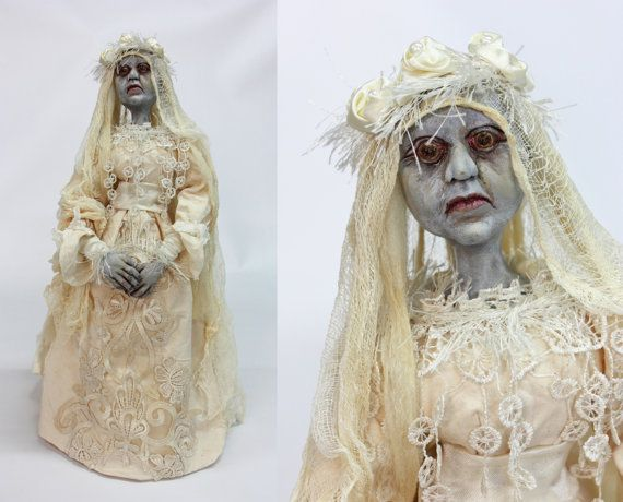 ART DOLL Dead bride art doll hallowen doll by LalkowniaDolls