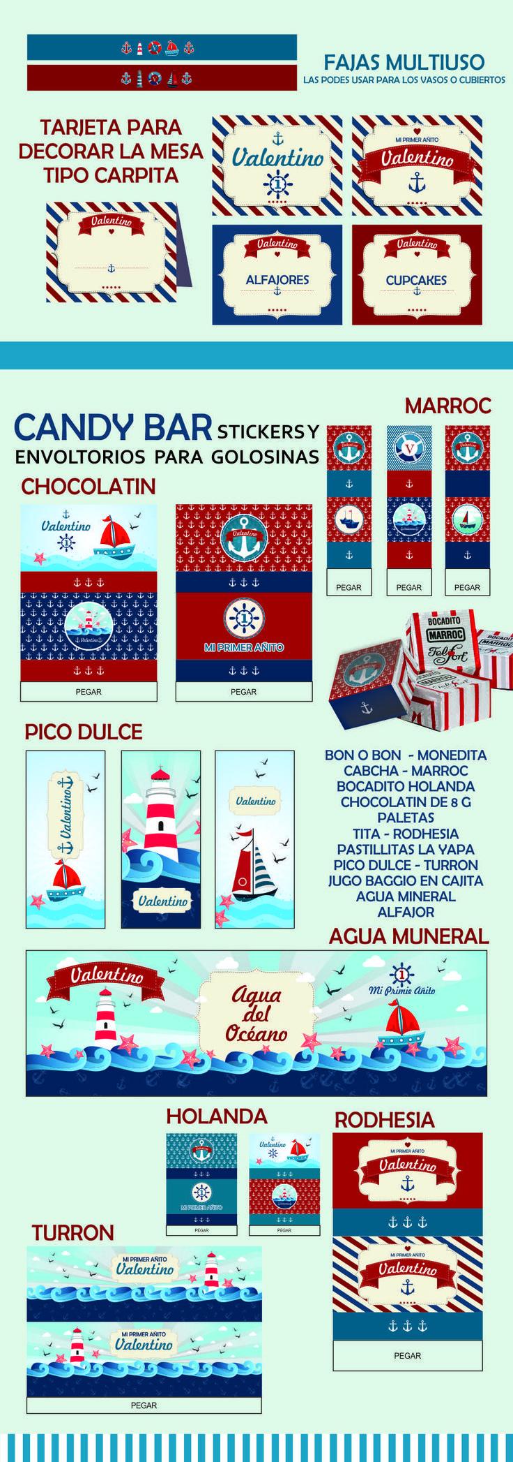 el mejor kit imprimible nautico para cumpleaños con barcos, faros y mar myc publicidad
