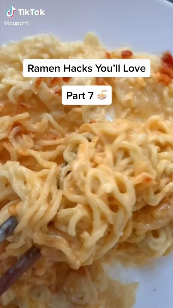 Easy Ramen Hacks Recipe Food Tiktok Video Food Videos Cooking Diy Food Recipes
