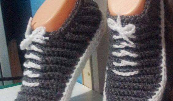 Bağcıklı örgü espati ayakkabı - Örgü Modelleri