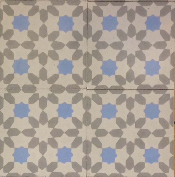 The Damask Encaustic Cement Tile. Beautifully Calm And Light. Suitable For  Any Room