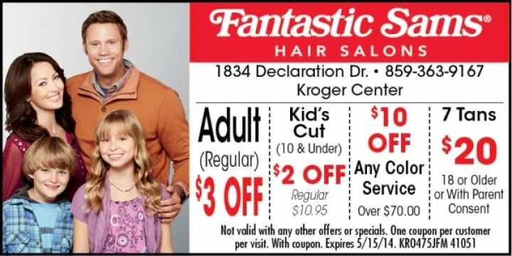 Fantastic Sams Burbank, CA: $3 Off Adult Haircut. More. Fantastic Sams Coupon and Coupon Code December DED. Show Code. GREAT DEAL. DEAL. Grab Women's Shine Mist. More. Check out this amazing deal and save huge on your purchase with cemeshaiti.tk Printable Top Coupons today. Shopping for all seasons and all the different reasons.