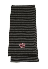 Stay warm and be stylish with the great striped #MSUBears scarf from the MSU Bookstore.
