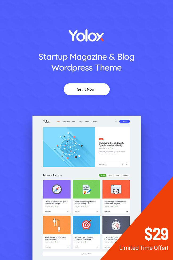 Business #Blog and #Startup Magazine #WordPress Theme for 🔥 $29