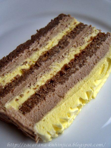 POTREBNO JE: 18 jaja 100 gr šećera 500 gr prah šećera 2 margarina 200 gr plazme 600 gr otopljene čokolade 500 gr kr...