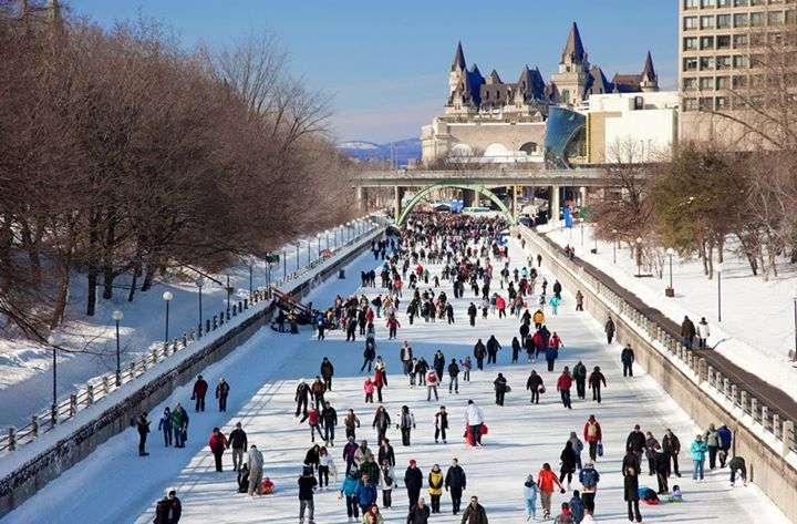 Photo from @RideauCanalSkateway on Facebook by Rideau Canal Skateway