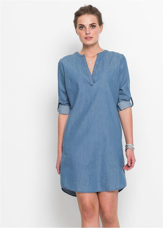 60424f9b6399 Džínsové šaty s polovičným rukávom • tmavomodrá • bonprix obchod ...