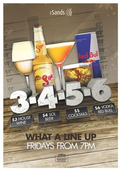 Drinks specials poster by Copirite