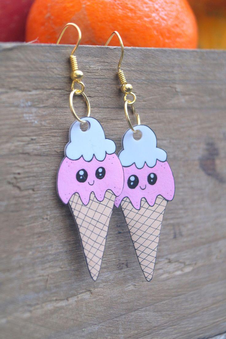 Boucles d'oreilles glace - plastique fou : Boucles d'oreille par mamzelle-etc
