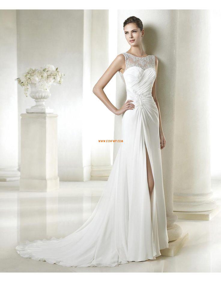 Elegant & Lyxig Höst Applikation Bröllopsklänningar 2015