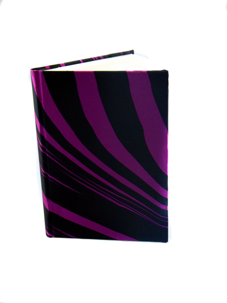 Modern Love Large Luxury A5 Notebook- Purple Zebra