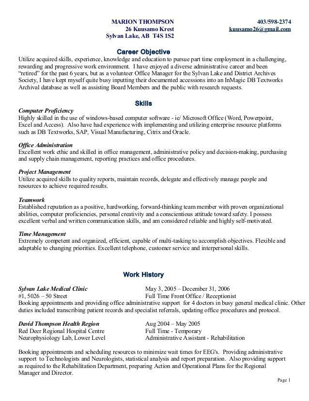 Pin by Beyond illustrious on Personal History (Resume ...