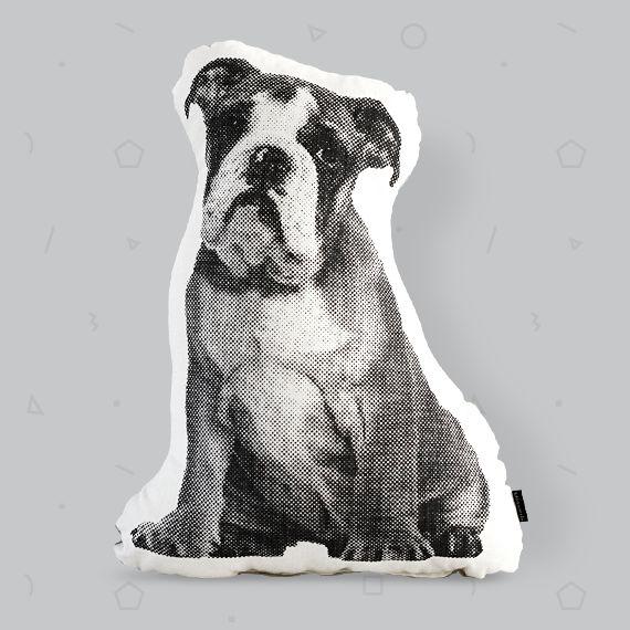 Menagerie Mr T Bulldog cushion