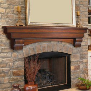 pearl mantels auburn traditional fireplace mantel shelf fireplace mantels u0026 surrounds at hayneedle - How To Build A Fireplace Surround