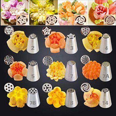 KiwiTwo Set von 45 Russische Spritzbeutel Düsen Kuchen dekorieren Sugarcraft Gebäck Werkzeug