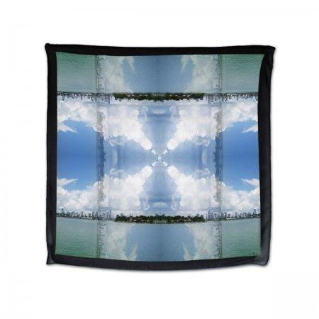 Miami Silk scarf (100%silk, georgette)  MIAMI print made in Italy